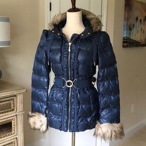 Juicy Couture Navy Puffer Coat